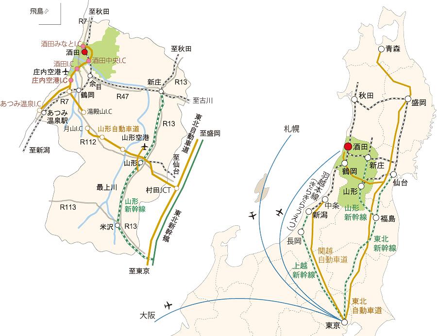 全国からのアクセスマップ